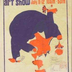 1970 Corn Hill Arts Festival Poster