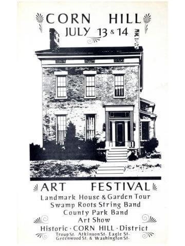1974 Corn Hill Arts Festival Poster