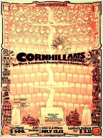 1975 Corn Hill Arts Festival Poster
