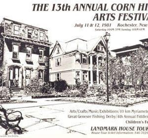 1981 Corn Hill Arts Festival Poster