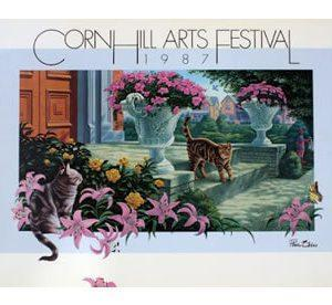 1987 Corn Hill Arts Festival Poster