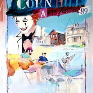 1989 Corn Hill Arts Festival Poster