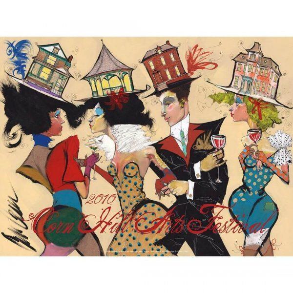2010 Corn Hill Arts Festival Poster