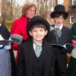 Carolers in Period Dress at Weimer Home Corn Hill Rochester