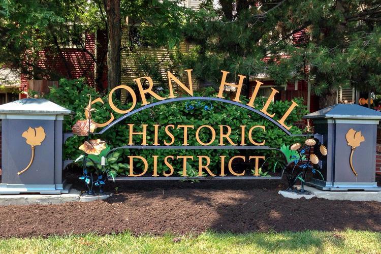 corn hill historic district sign