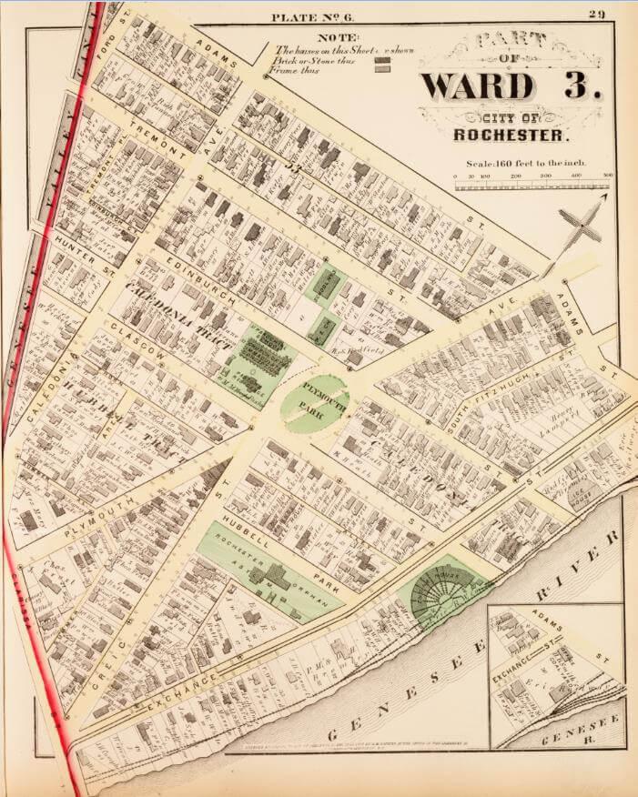 historic Third Ward neighborhood rochester ny, corn hill