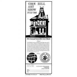1973 Corn Hill Arts Festival Poster