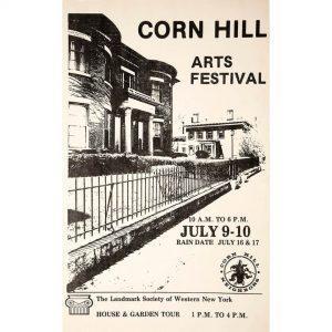 1977 Corn Hill Arts Festival Poster