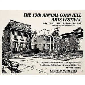 1981 Corn Hill Arts Festival Poster