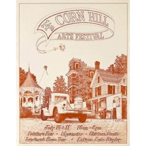 1982 Corn Hill Arts Festival Poster