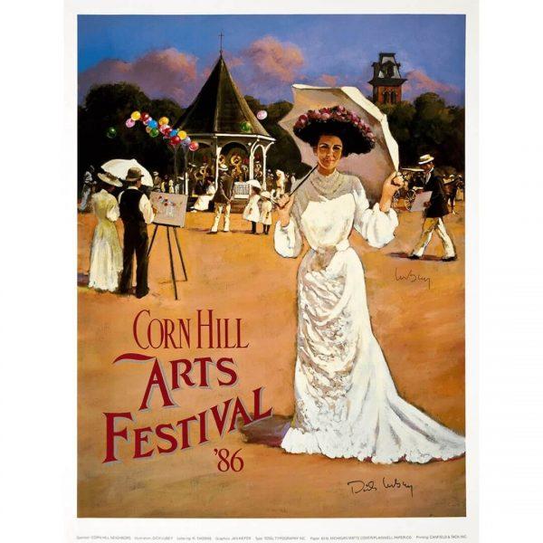 1986 Corn Hill Arts Festival Poster