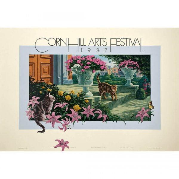 1987 Corn Hill Arts Festival Poster