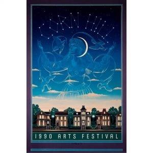 1990 Corn Hill Arts Festival Poster