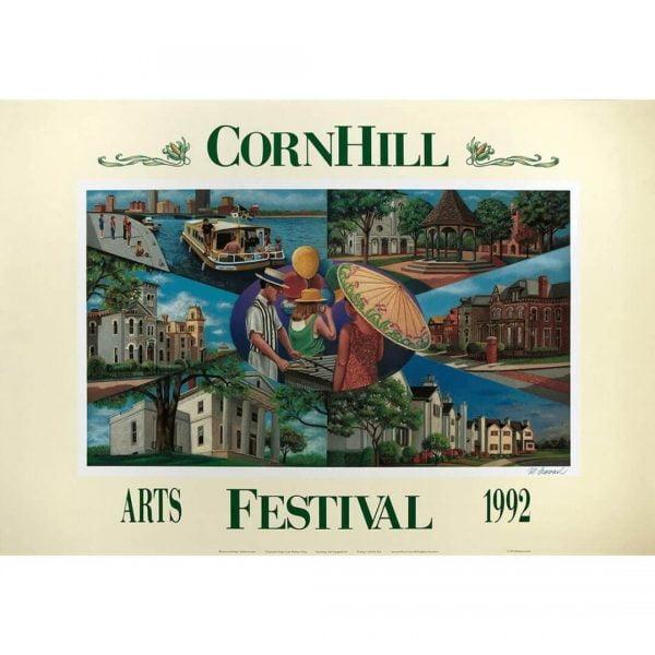 1992 Corn Hill Arts Festival Poster